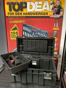 KS TOOLS Universal Kunststoff-Werkzeugkiste anthrazit Werkzeugkoffer stapelbar