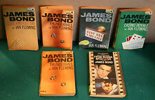 James Bond Books Ian Fleming Pan Books ( 6 Books ) 1960s