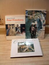 Lot of 3 US Art Books ~ Norman Rockwell, Restore Statue Liberty, American Family