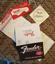 Vintage 1998-1999 Fender Guitars Owner's Registration Cards & Hang Tags Case Can