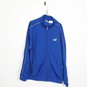 90s PUMA Small Logo Tracksuit Top Jacket Blue XL