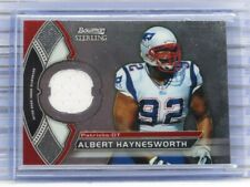 2011 Bowman Sterling Albert Haynesworth Game Used Jersey Relic Patriots E22