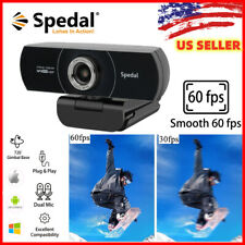 Spedal 1080P Hd 60fps Webcam USB with Microphone Streaming Camera for Laptop PC
