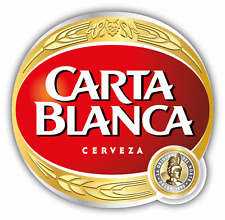 "Carta Blanca Cerveza Mexico Beer Drink Car Bumper Sticker Decal 5"" x 5"""