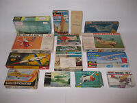 Huge Vintage Model Lot of 15 Boats and Planes Revell Aurora Monogram Sea Yacht
