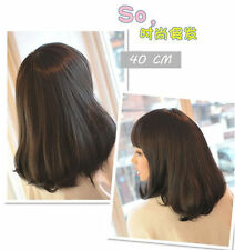 HE-J0283 pretty Fashion Short dark Brown Wig wigs for modern women