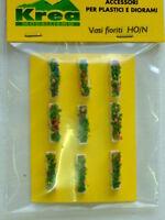 Vasi fioriti rettangolari per plastico o diorama H0-N pezzi 9 - KREA