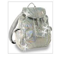 Backpack Sequined Iridescent Bling Handbag Women Girls School Gym Book Dance Bag