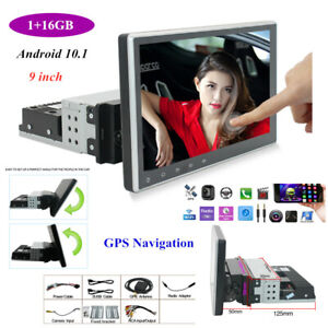 1PCS 1+16GB 9'Android 10.1 Car Stereo GPS Navigation MP5 Player WiFi Radio 1Din