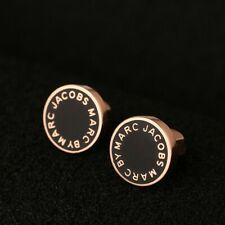 Marc by Marc Jacob Stud Earrings Black & Rose Gold NWT