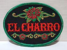 Toppa EL CHARRO Patch (7,5 x 10,5) Vintage Anni 80 Ricamata NUOVA (PANINARO)