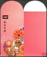 WD Western Digital CNY Flowers 1 pc Mint Red Packet Ang Pow