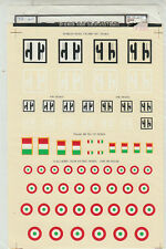 1/72 MicroScale Decals Italian WWII Wing Fuselage Tail RSI Insignia 72-60