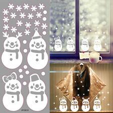 Wandtattoo Schneeflocken Schneemann Fensteraufkleber Fensterdeko Weihnachten·de