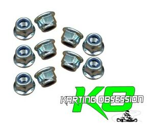 Go Kart 10 Qty 6mm Flanged Nylock Nuts / Lock Nuts Parts Nuts Bolts