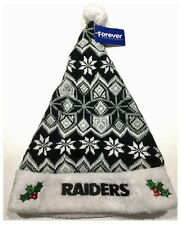 Oakland Raiders NFL American Football Christmas Knit Santa Hat