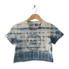 BOHO BRIDE CROP TOP TEE // hand-dyed shibori // Size S // gift for bachelorette