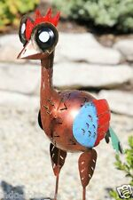 Exotische Fantasie Skultur Figur Emu aus Metall TOP kupferfarben 60 cm