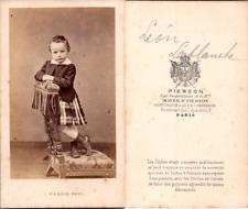 Pierson, Paris, Petit garçon nommé Léon Lablanche, circa 1865 CDV vintage albume