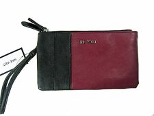 Nine West Double Zip Wristlet Pouch Wallet Follow The Zipper SLG New Black $49