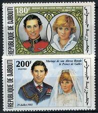 Djibouti Republic 1981 Princess Diana Royal Wedding MNH Set #D7716