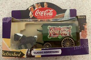 Coca-Cola Lledo Die-cast Vehicle - Classic Advertising - Horse Drawn Van - NIB