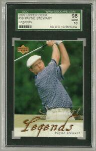 PAYNE STEWART 2002 UPPER DECK Golf CARD #59 SGC 98 10 Perfect Gem