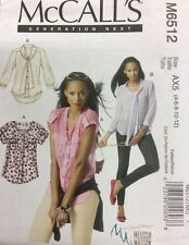 McCall's Pattern - M6512 AX5 (4-6-8-10-12) Ladies Blouse Pattern
