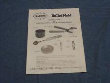 Lee bullet mold instructions