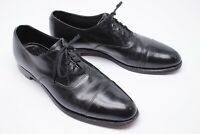 VTG Barrie LTD Mens Cap Toe Dress Shoes 11 B Black Oxford Balmoral England