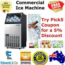 Commercial Ice Machine Portable 45~60KG/Day Maker Cube Automatic Home Business