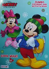 Disney Mickey & Minnie Mouse Christmas Coloring Book ~ Cool Yule! ~FREE SHIPPING