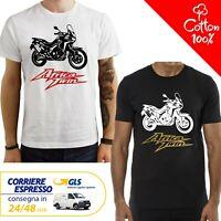 T-Shirt Honda Africa Twin CRF 1000 uomo Maglia moto nera cotone 100% maglietta