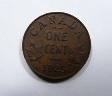 Canada King George V One Cent 1925 KEY Date RARE NICE