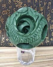 Rare Series Puzzle Ball Sphere interlink overlap 6 Layers Ball green Jade Lucky