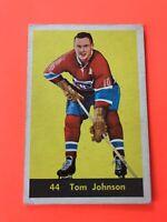 TOM JOHNSON 1960-61 PARKHURST HOCKEY CARD #44 MONTREAL CANADIENS