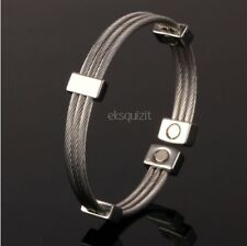 MAGNETIC TWISTED ROPE BRACELET MAGNET CIRCULATION BANGLE
