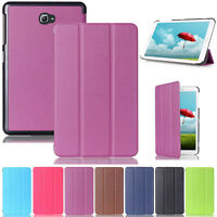 For Samsung Galaxy Tab A 10.1 SM-T580 T585 2016 Smart Flip PU Leather Case Cover