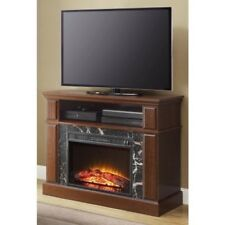 TV Entertainment Fireplace Media Console Electric Heater Cherry Finish 50 in.