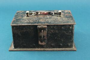 Eisen Schatulle Handgeschmiedet ca 2,7 kg mit Henkel