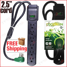 Outlet Surge Protector Power Strip Heavy Duty With Flat Plug For Home Appliance