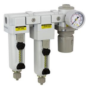 "PneumaticPlus Compressed Filters 10 + 0.1μm Regulator 3/8"" SAU3030M-N03G-MEP R"