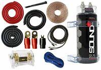 0 Gauge Amp Kit Amplifier Install Wiring & 2.5 Farad Digital Capacitor, 5500W