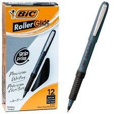 BIC Grip Roller Micro GREM11 31196, Black Ink, 0.5mm Micro Fine, Box of 12 Pens