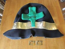 Large Leprechaun hat for halloween costume and shoe buckles
