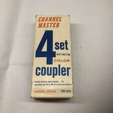 CHANNEL MASTER FOUR SET MODEL Color 0044 COUPLER UHF/VHF/FM 300 OHM IN BOX