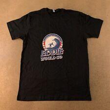 Next Level Men's Size Large Black Eddie Would Go Surfing Graphic T-Shirt New