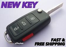 OEM VW VOLKSWAGEN flip keyless entry remote fob transmitter +NEW KEY BLADE