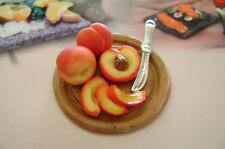 Dollshouse Food , miniatures dollshouse , tray PEACHES
