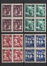 AUSTRIA 1951. Reconstruction Set. Complete (4 values), in Blocks of 4. MNH / VF.